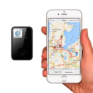 Foto van portable GPS tracker met iphone app